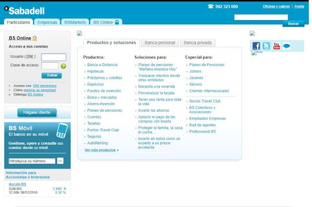 Banco Sabadell el 30/12/2010