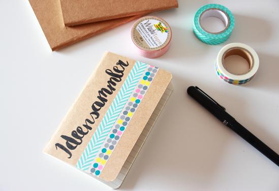 binedoro Blog, DIY, Maskingtape, Bilderrahmen, Notizhefte, Geschenkverpackung, Typografie