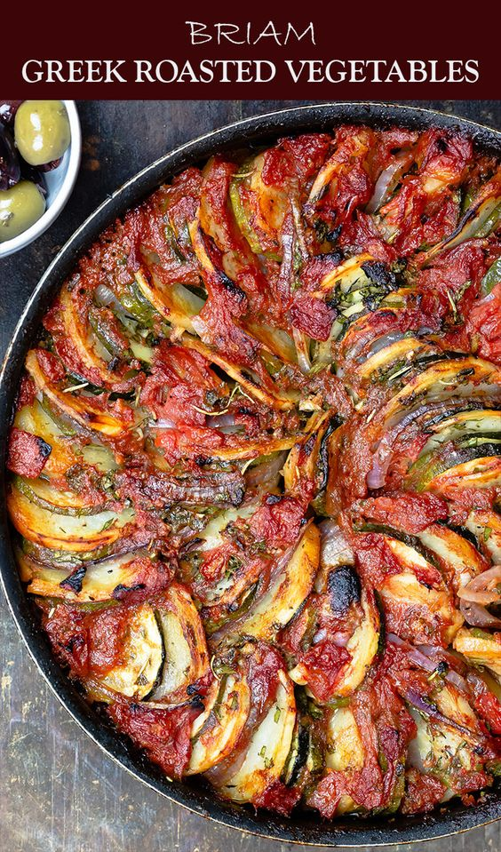Traditional Greek Roasted Vegetables (Briam)