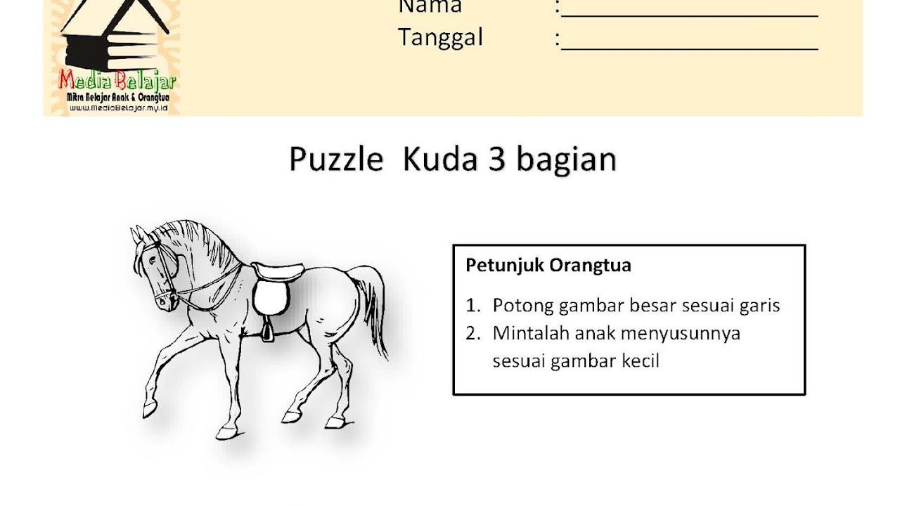 Puzzle Kuda 3 Bagian