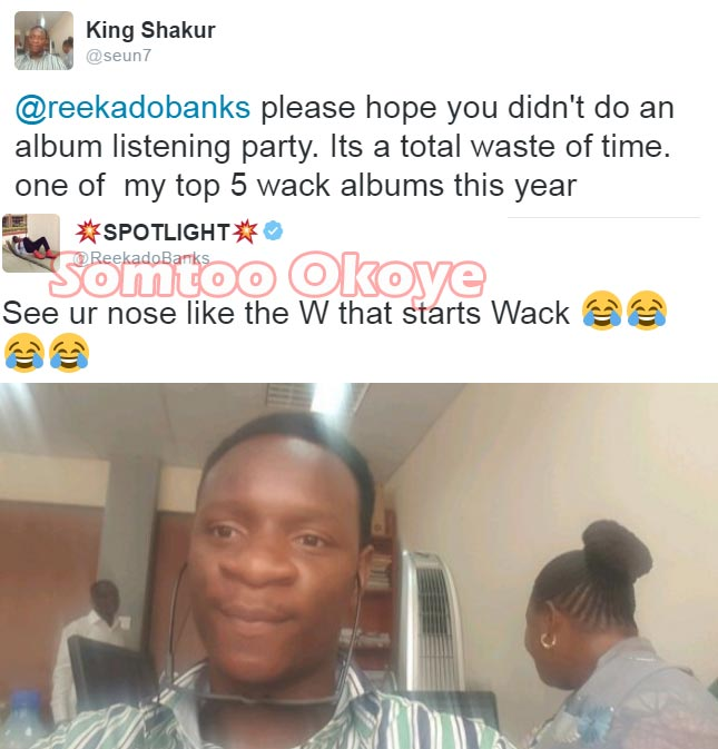 Reekado Banks claps back at Twitter user for calling album wack