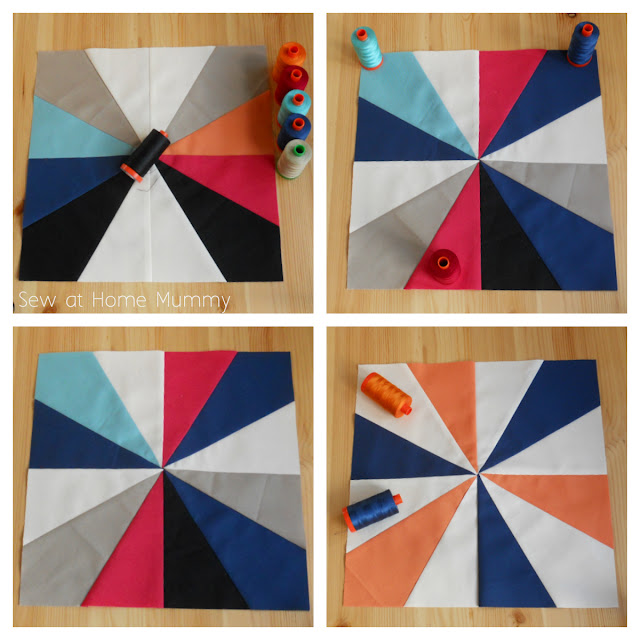 Free Quilt Along Pattern via Sew at Home Mummy, hosted by the Fat Quarter Shop