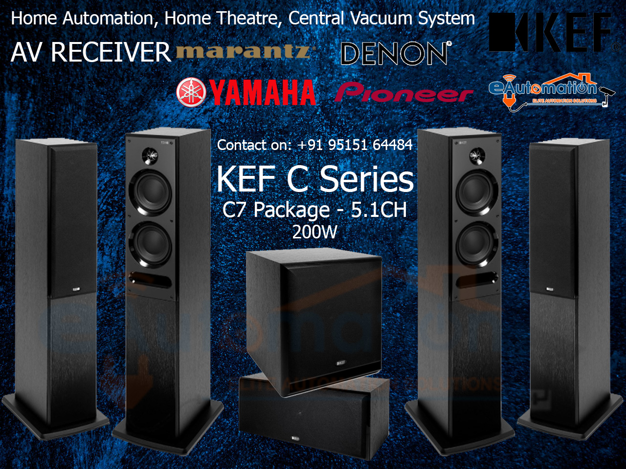 KEF C7 Floorstanding Home Theater Package - KEF HOME Theater Systems