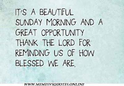 Beautiful Sunday Morning