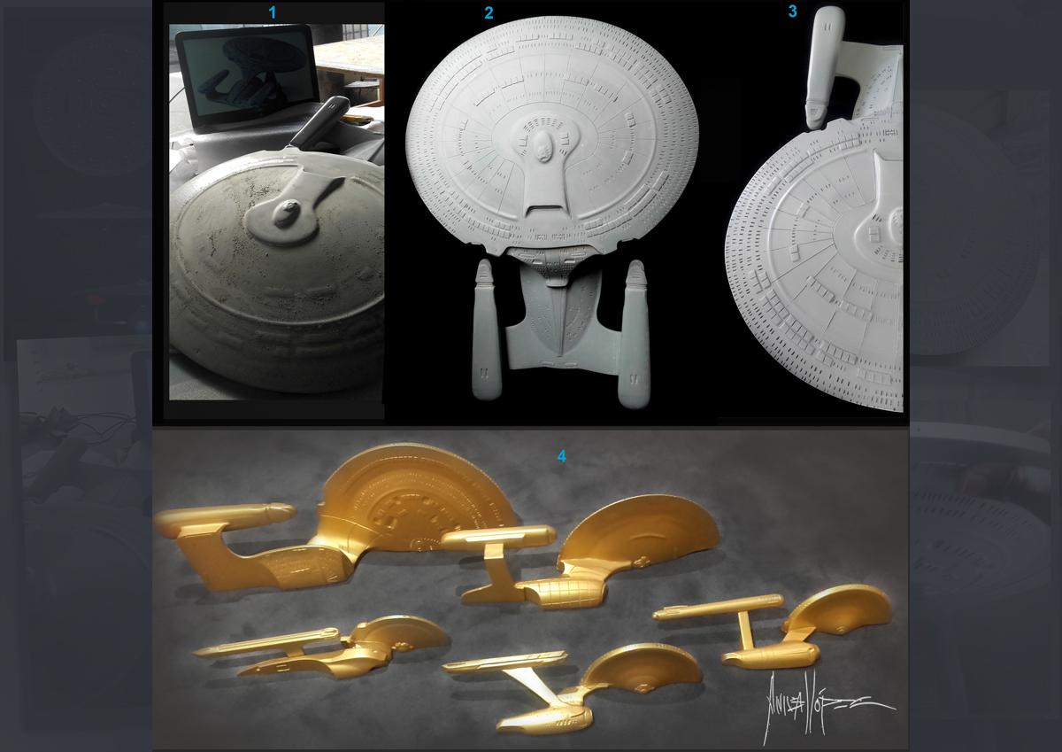 Realización de la nave NCC-1701-C U.S.S. ENTERPRISE de Star trek  .