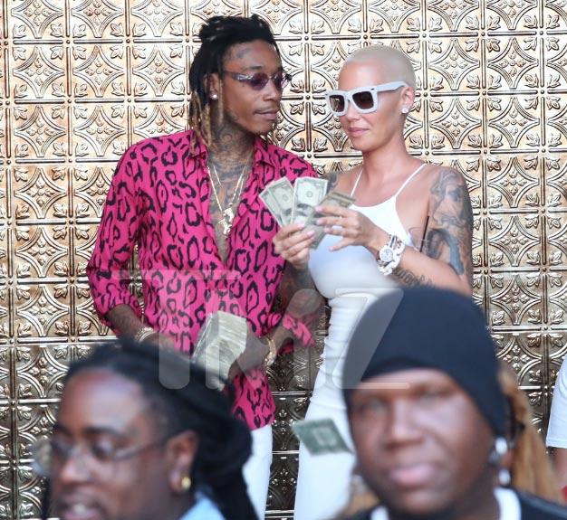 Wiz Khalifa and Amber Rose celebrate divorce at strip club