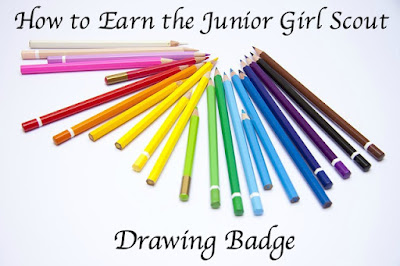 Here is the meeting plan for earning the Girl Scout Junior Drawing Badge.
