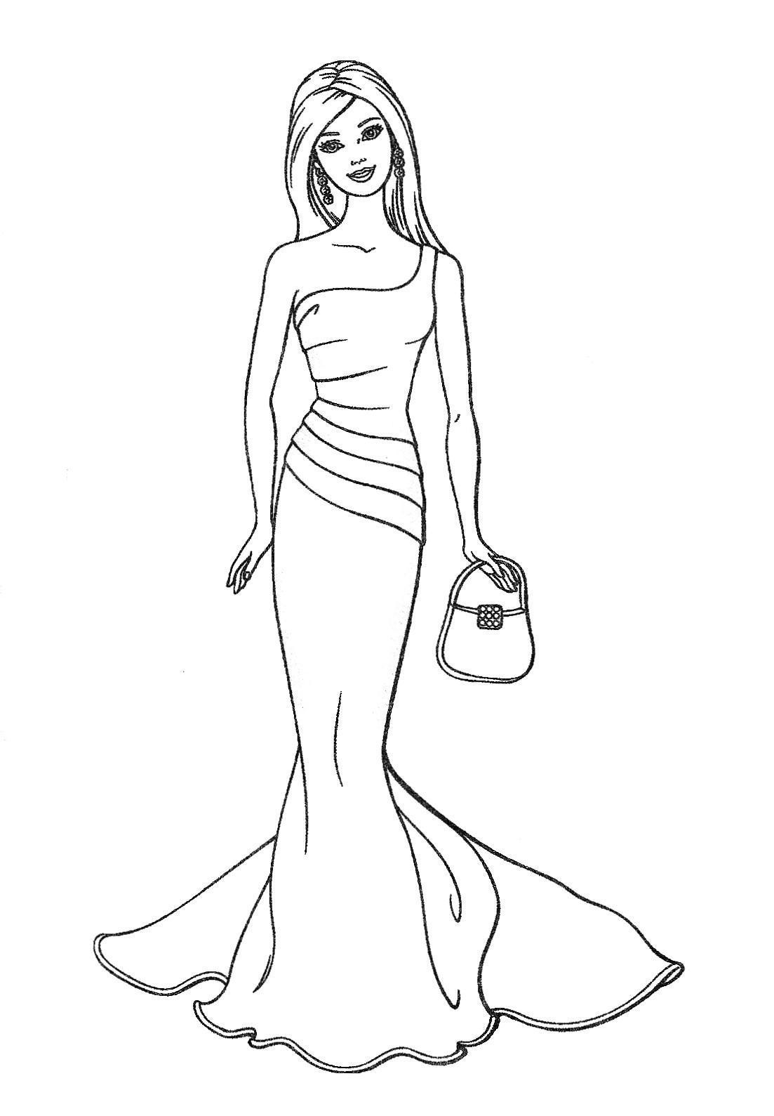 barbie coloring pages on coloring book info | BARBIE COLORING PAGES