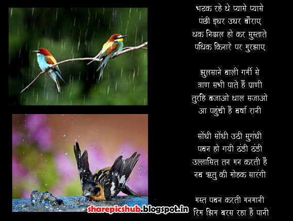 Rain Wallpaper With Quotes In Marathi Birds In Rain Poems For Kids In Hindi Monsoon Poems In