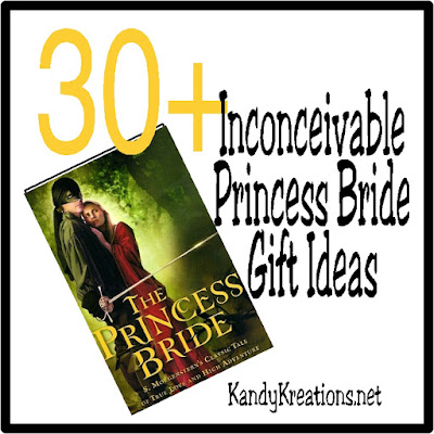 Celebrate the ultimate love story with Buttercup and Wesley with these inconceivably awesome Princess Bride gift ideas.  You won't have to fight the horrors of the Fire Swamp to enjoy these prints, jewelry, activity books, and more.