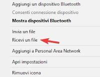 Ricevi un file tramite Bluetooth