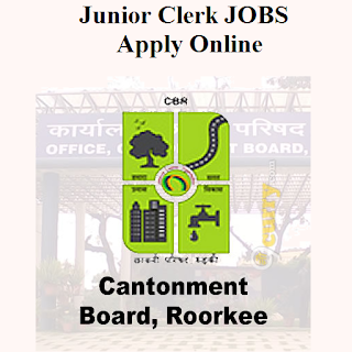 Cantonment Board, Roorkee, Ministry of Defence, Govt. of India, CB Roorkee, UK, Uttarakhand, Cantonment Board, 12th, Junior Clerk, Clerk, freejobalert, Sarkari Naukri, Latest Jobs, cb roorkee logo