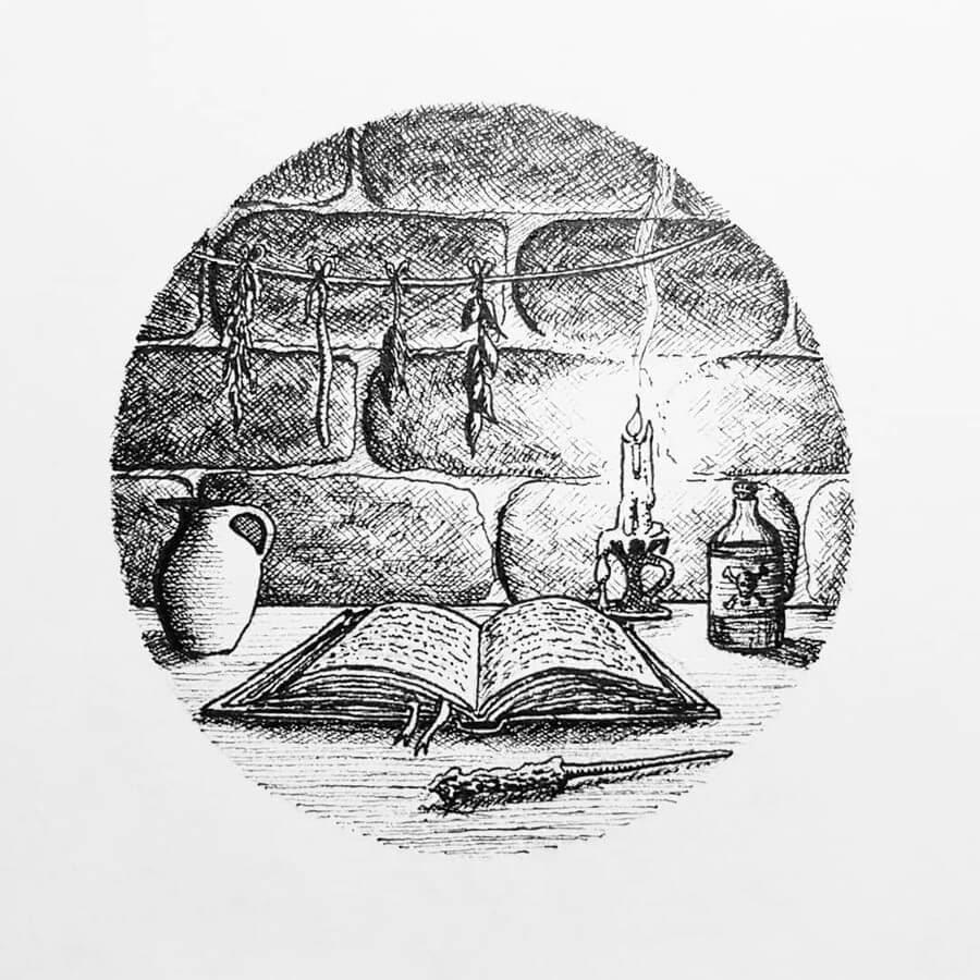 07-Ancient-Magic-Manuscript-Hannes-Hesselbarth-www-designstack-co