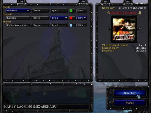 naruto warcraft 3 map