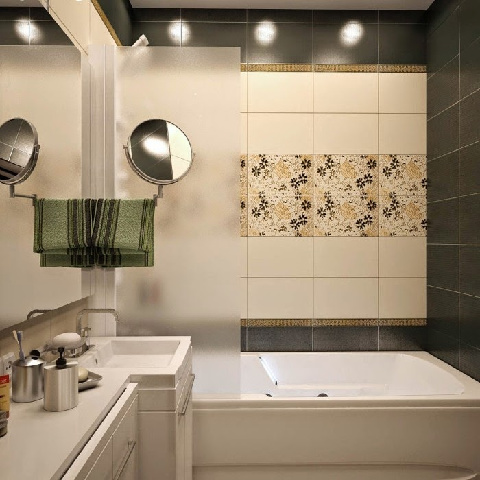 Brown Tile Color Ideas For Decorating: Top Catalog Of Bathroom Tile Design Ideas For Small Bathrooms