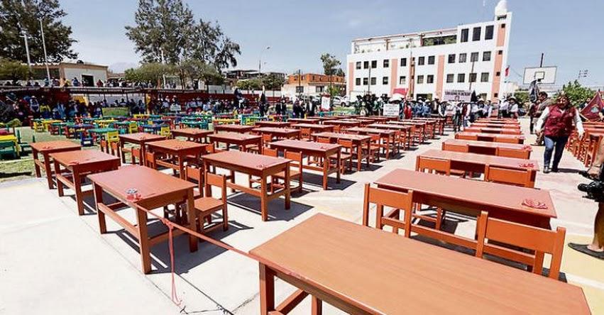 Entregan mobiliario a 38 instituciones educativas de Arequipa