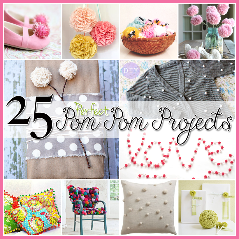 Fun Home Ideas: 25 Pom Pom DIY Projects Home Decor, Clothes And Great FUN
