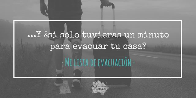 lista de evacuación