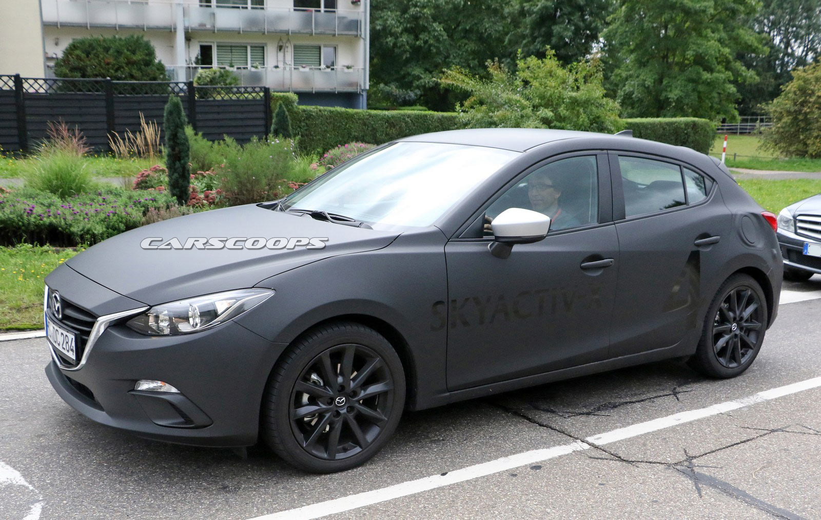 new mazda3 prototype spied with a skyactiv x engine carscoops. Black Bedroom Furniture Sets. Home Design Ideas
