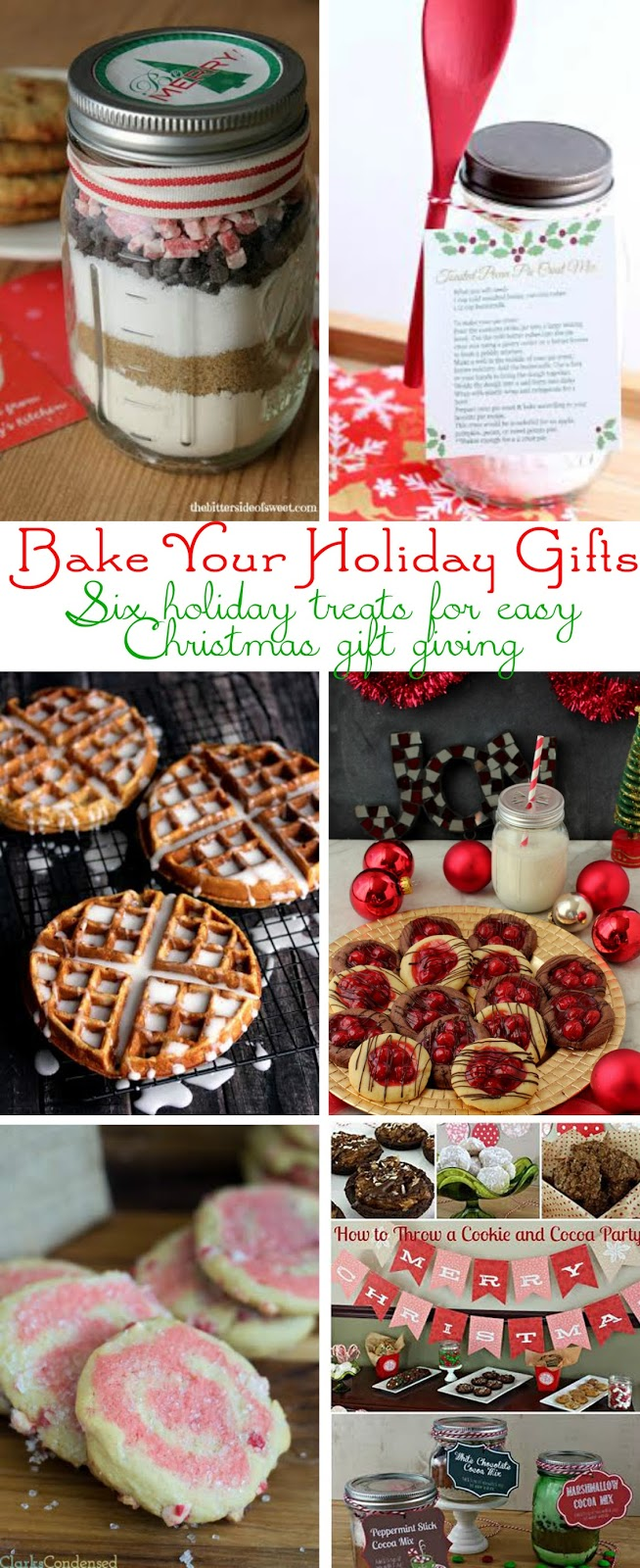 Six Holiday Gifts for Easy Christmas Gift Giving- start checking off that holiday gift list with these easy DIY edible gifts!