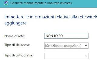 nascondere rete wifi