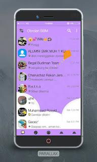 BBM MOD New Parallax Purple V3.0.1.25 Apk No FC