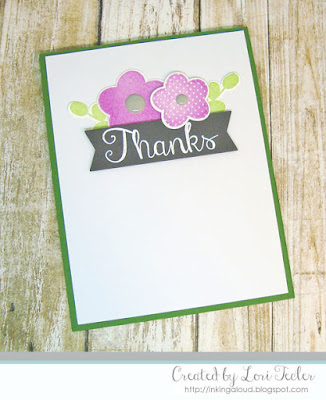 Petals 'n Posies Thanks card-designed by Lori Tecler/Inking Aloud-stamps and dies from Reverse Confetti