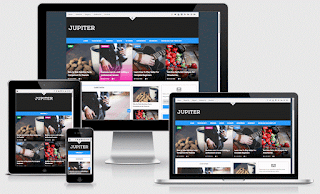 Jupiter Responsive Blogger Template Free Download