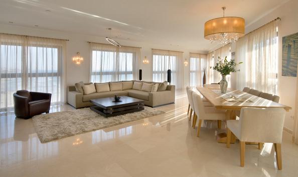Tile Floors In Living Room