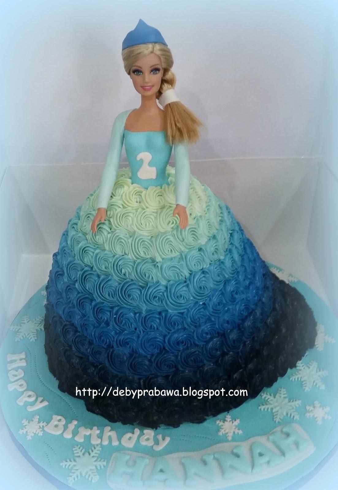 Butterfly Cake Elsa Doll Cake