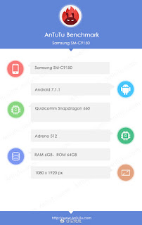 Samsung SM-C9150 (Galaxy C10 Plus) with Snapdragon 660, 6GB RAM leaked