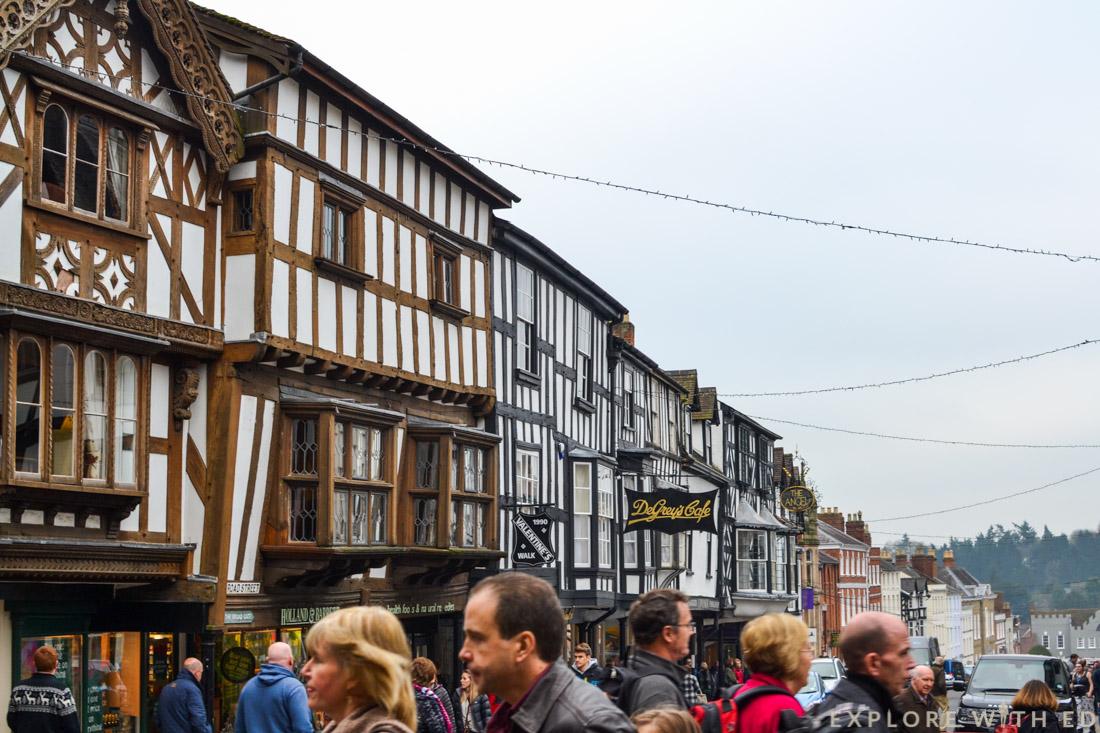 Ludlow at Christmas, Tudor Buildings, Medieval Town, England