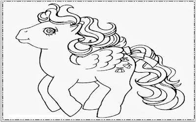 Mewarnai Gambar Kuda Poni