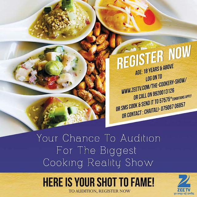 'The Cookery Show' on Zee Tv  Wiki Plot,Judges,Host,Audition,Contestant,Winner,Promo