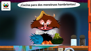 App infantil para jugar y cocinar gratis Toca Kitchen Monsters