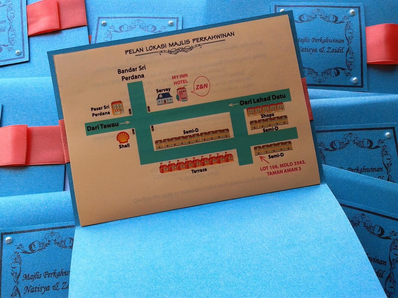 turquoise wedding invitation card, malay, kad kahwin, cantik, comel, sabah, sarawak, malaysia, kuala lumpur, cute, pearls, pearl, peach satin ribbon,