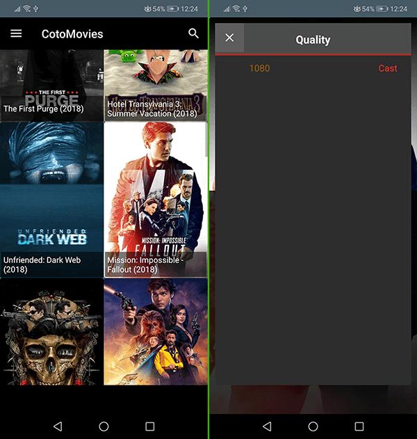 تطبيق اندرويد لمشاهد الأفلام