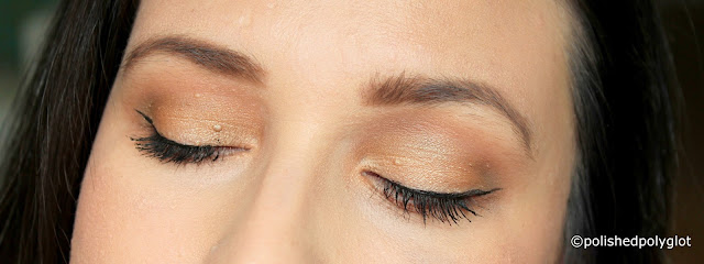 Soft neutral makeup look using NARS Man Ray Love Game palette