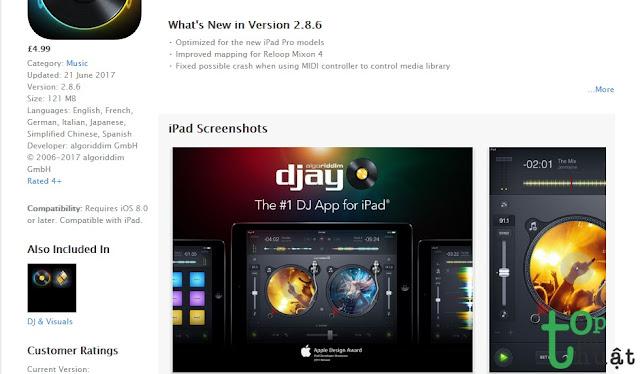 Ứng dụng Djay 2 (Djay Pro)