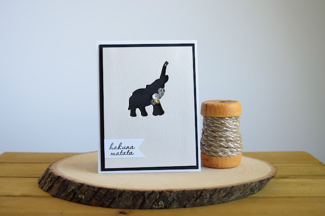 Safari Themed Elephant Shaker Card by Jess Crafts using Hero Arts My Monthly Hero June Kit