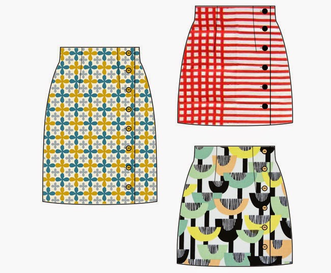 Arielle skirt sewing pattern - Fabric ideas