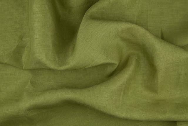 Olive Handkerchief Linen Fabric