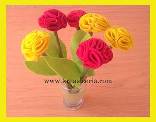 Ide Kreatif Membuat Bunga Flanel Cantik dan Indah