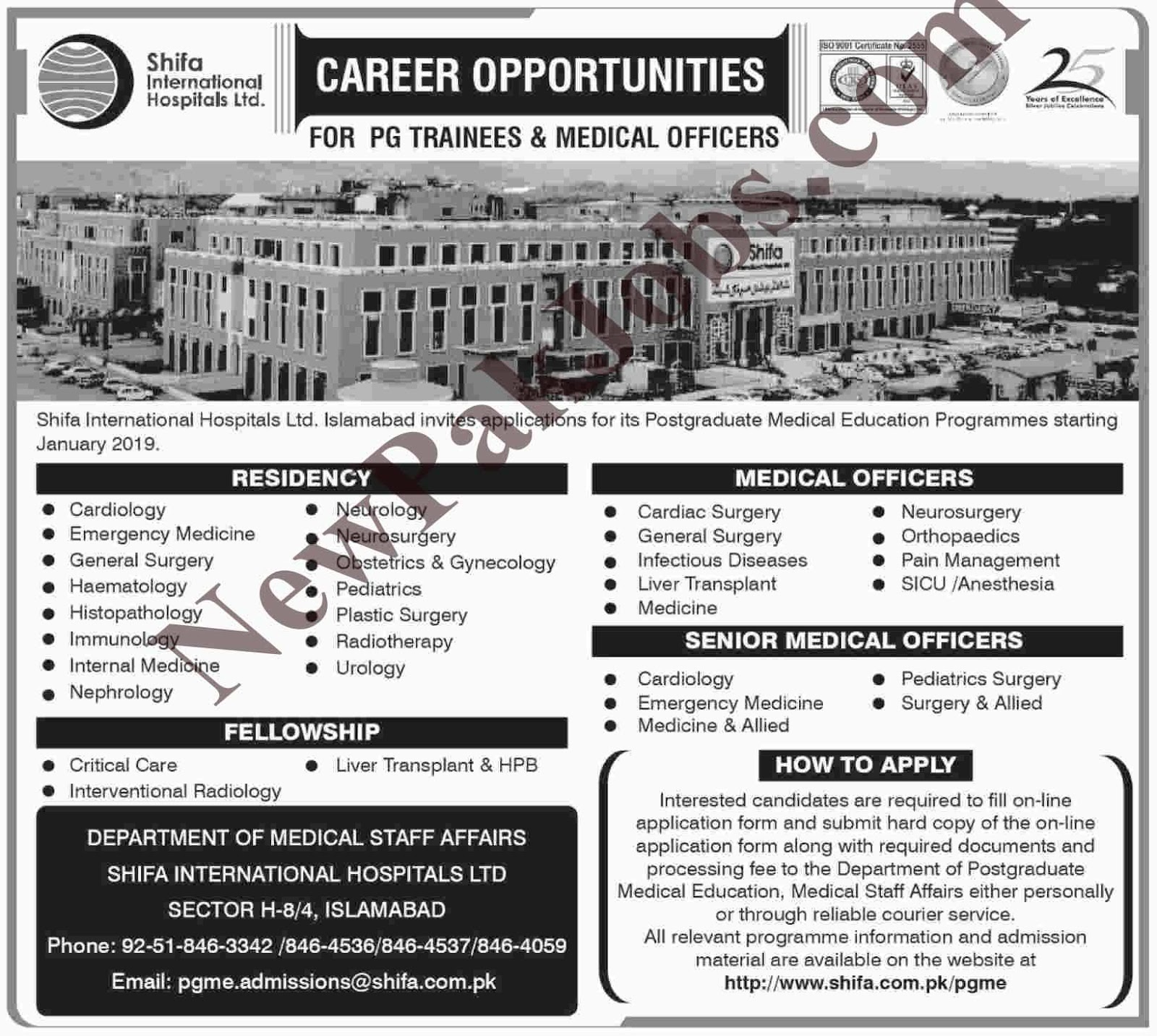 Shifa International Hospital, October 2018 Jobs Vacancies