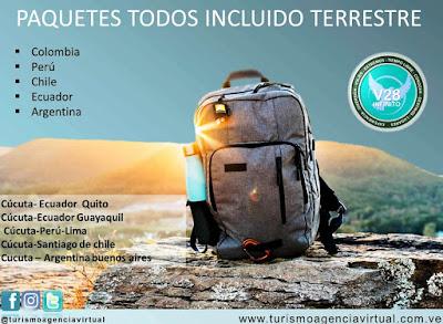 imagen  PAQUETES TERRESTRE  Colombia, Perú, Chile, Ecuador, Argentina