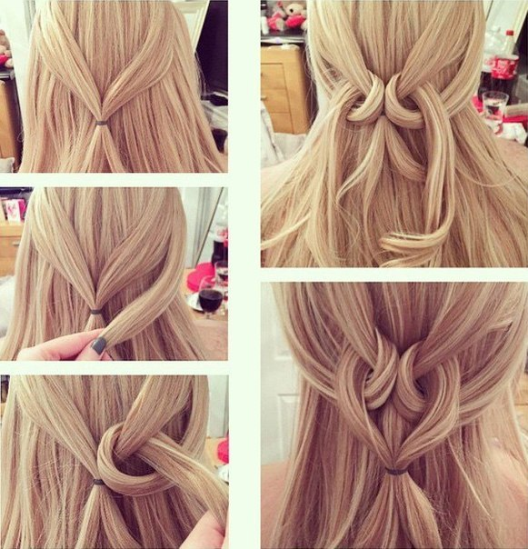 Simple And Easy Heart Twist Hairstyle Tutorial Step By Step Style