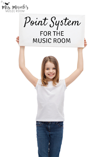 Point system for the music classroom: Great way to reward whole class behavior!