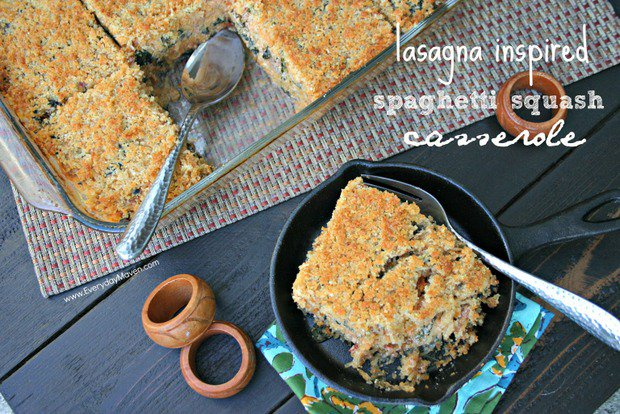 Lasagna Inspired Spaghetti Squash Casserole by Everyday Maven