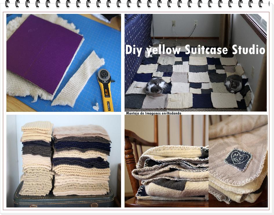 mantas, reciclar, transformar, jerseis, sueters, labores