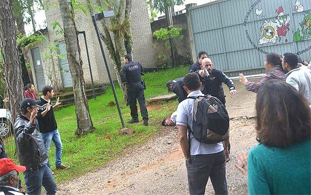 Ação das polícias aconteceu nesta sexta, pela manhã. Fotos: MST